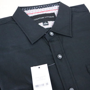 Black Long Sleeve Men's S Button Up Dress Shirt